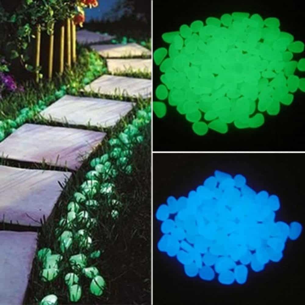 Garden Decors: Glow in the Dark Pebbles