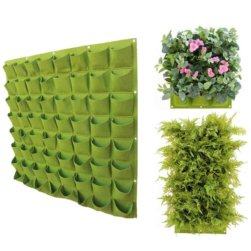 Small Space Gardening: Wall Hanging Plant Holders Vertical Garden